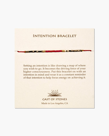 INTENTION BRACELET - MICRO BEADS - RED