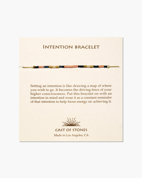 INTENTION BRACELET - MICRO BEADS - SWEET PEACH