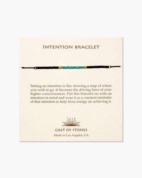 INTENTION BRACELET - MICRO BEADS - TURQUOISE