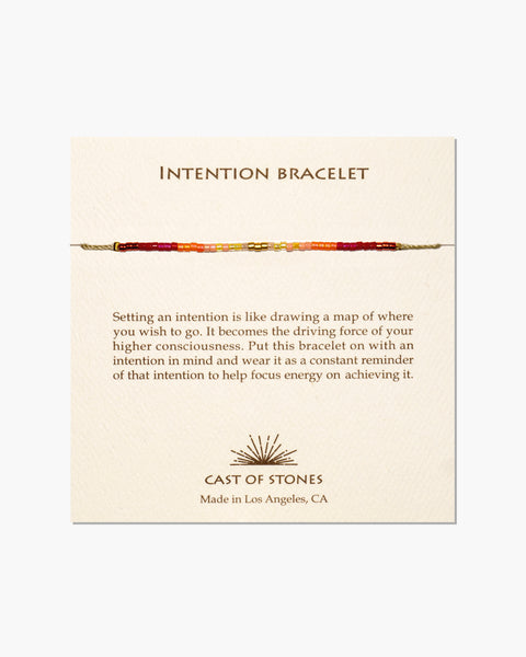 INTENTION BRACELET - Warm Ombre