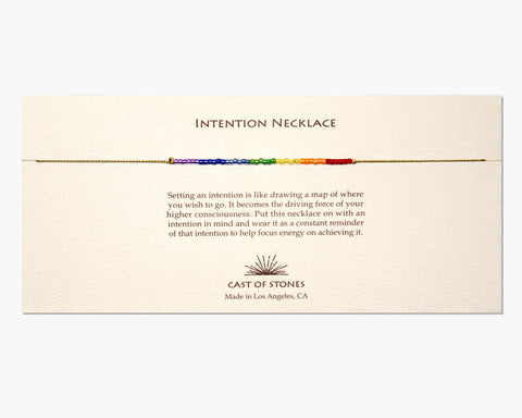 INTENTION NECKLACE - CHAKRA RAINBOW