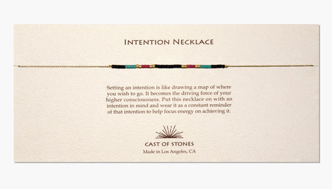 INTENTION NECKLACE - MULTI COLOR