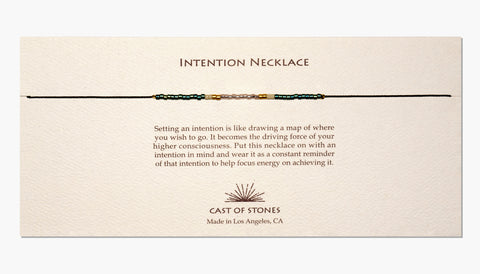INTENTION NECKLACE - Patina & Pink
