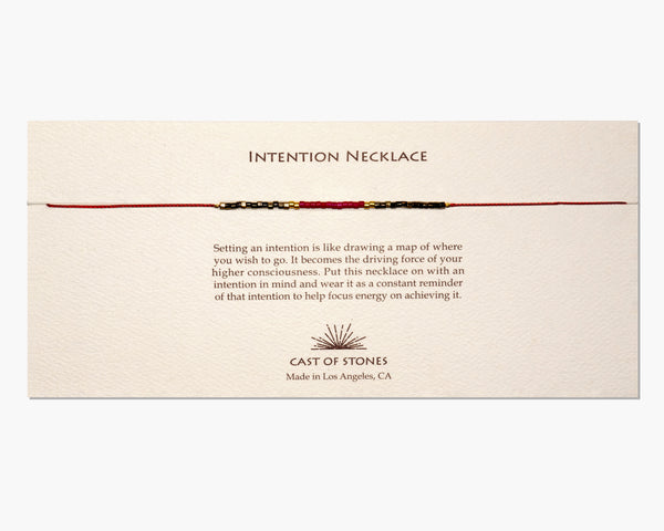 INTENTION NECKLACE - RED