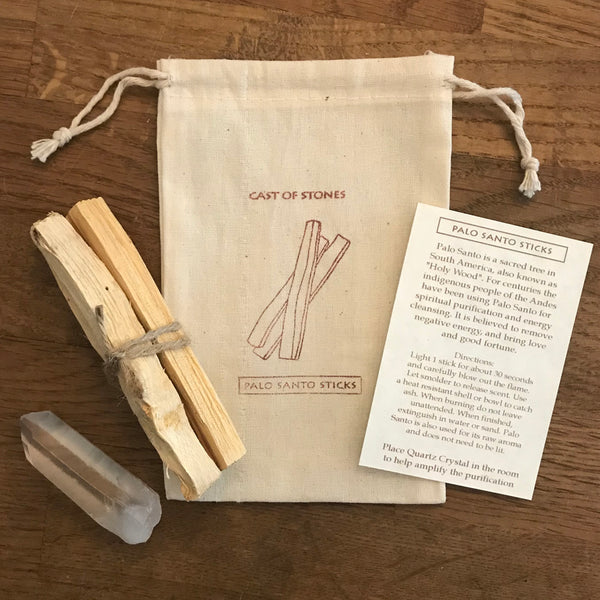 Palo Santo Sticks and Crystal pouch