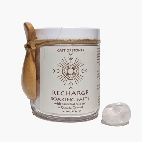 Soaking Salts with Clear Quartz Crystal - Recharge