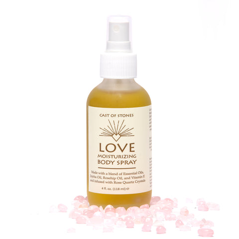 Love Moisturizing Spray infused w/ Rose Quartz Crystals