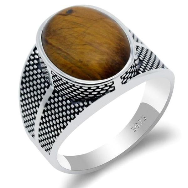 Bague Oeil de Tigre - 9 / Tiger Eye Stone
