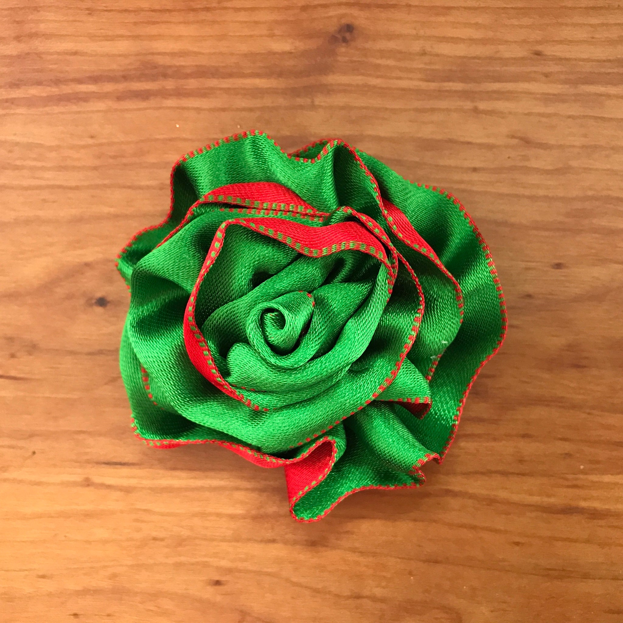 Green with Red Flower