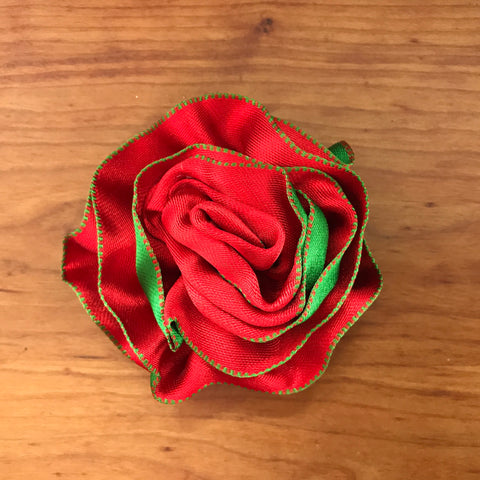 Red with Green Flower