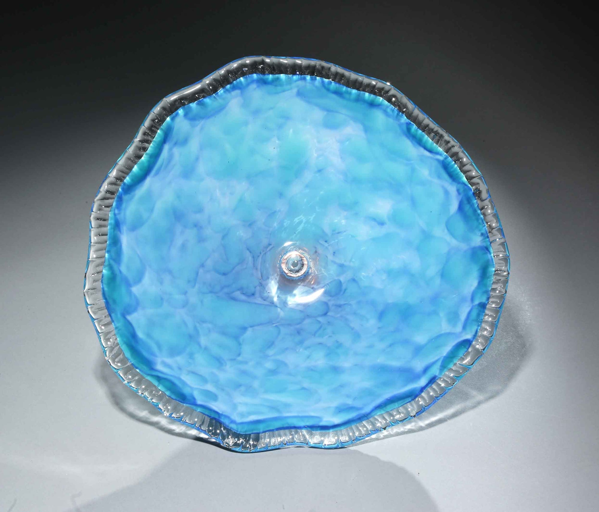 Birdbath Cloud Turquoise Blue White