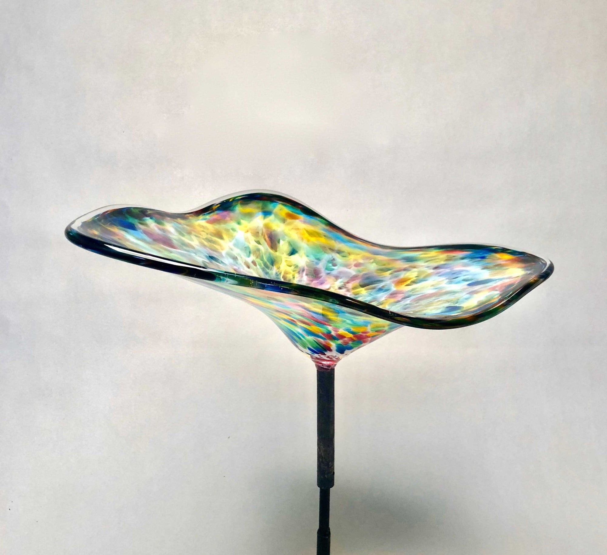 Birdbath Oblong Rainbow