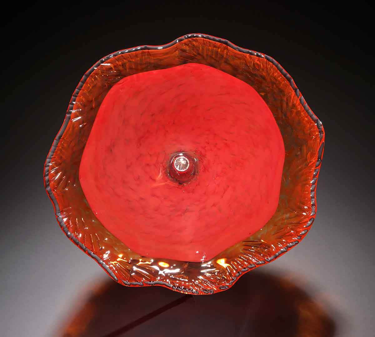 Birdbath One Color Red