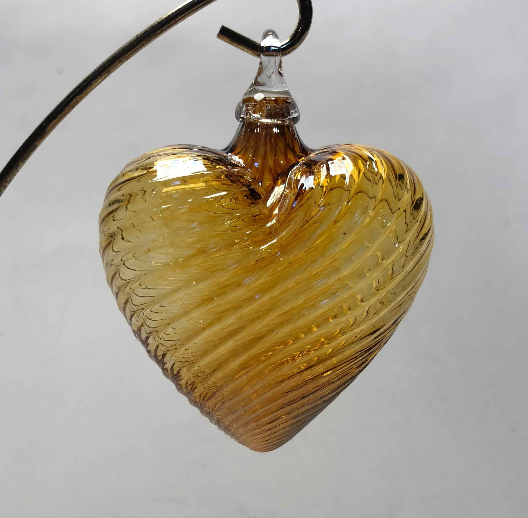 Ornament Heart Amber Mirror
