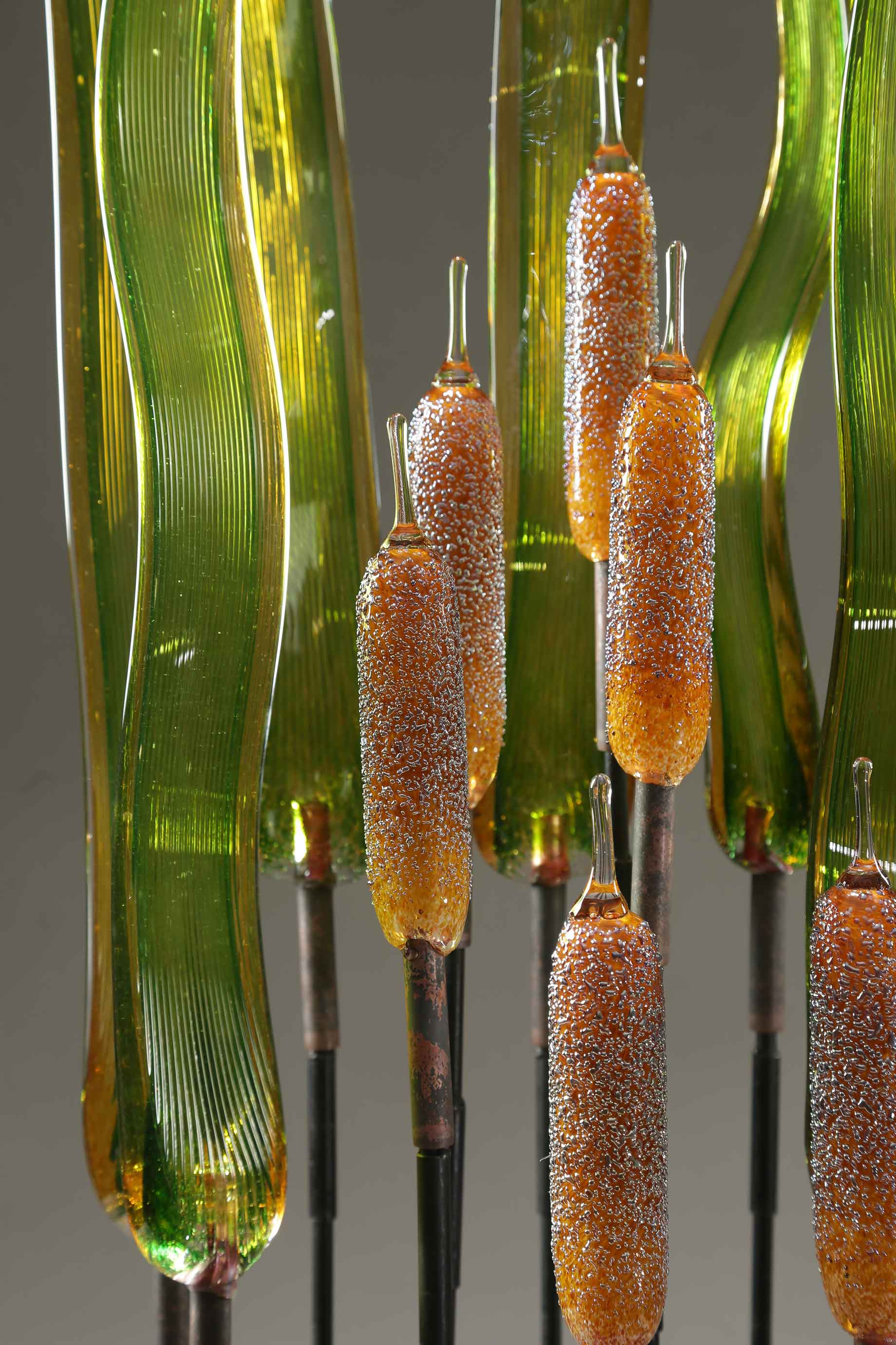 Cattail Amber with Silvery Dots