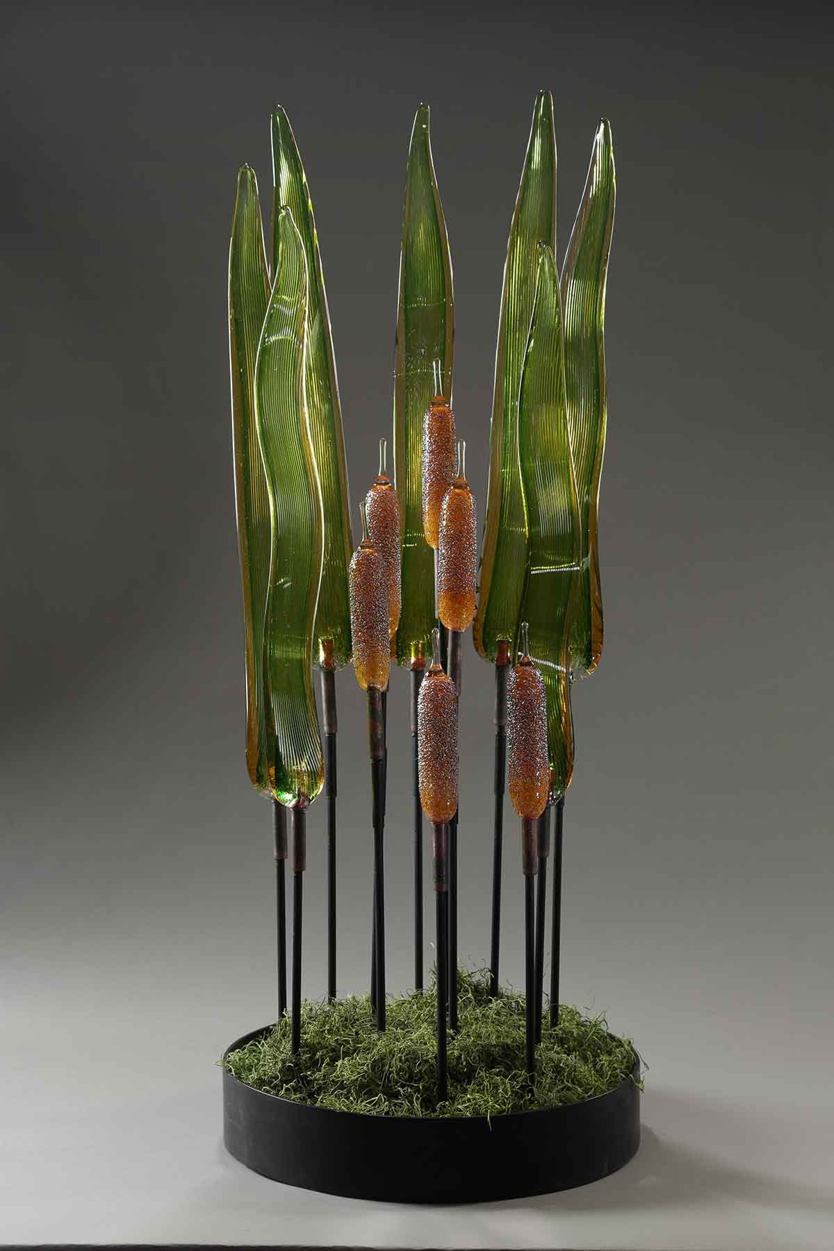 Cattail Arrangement with Cattail Leaves 13 pt