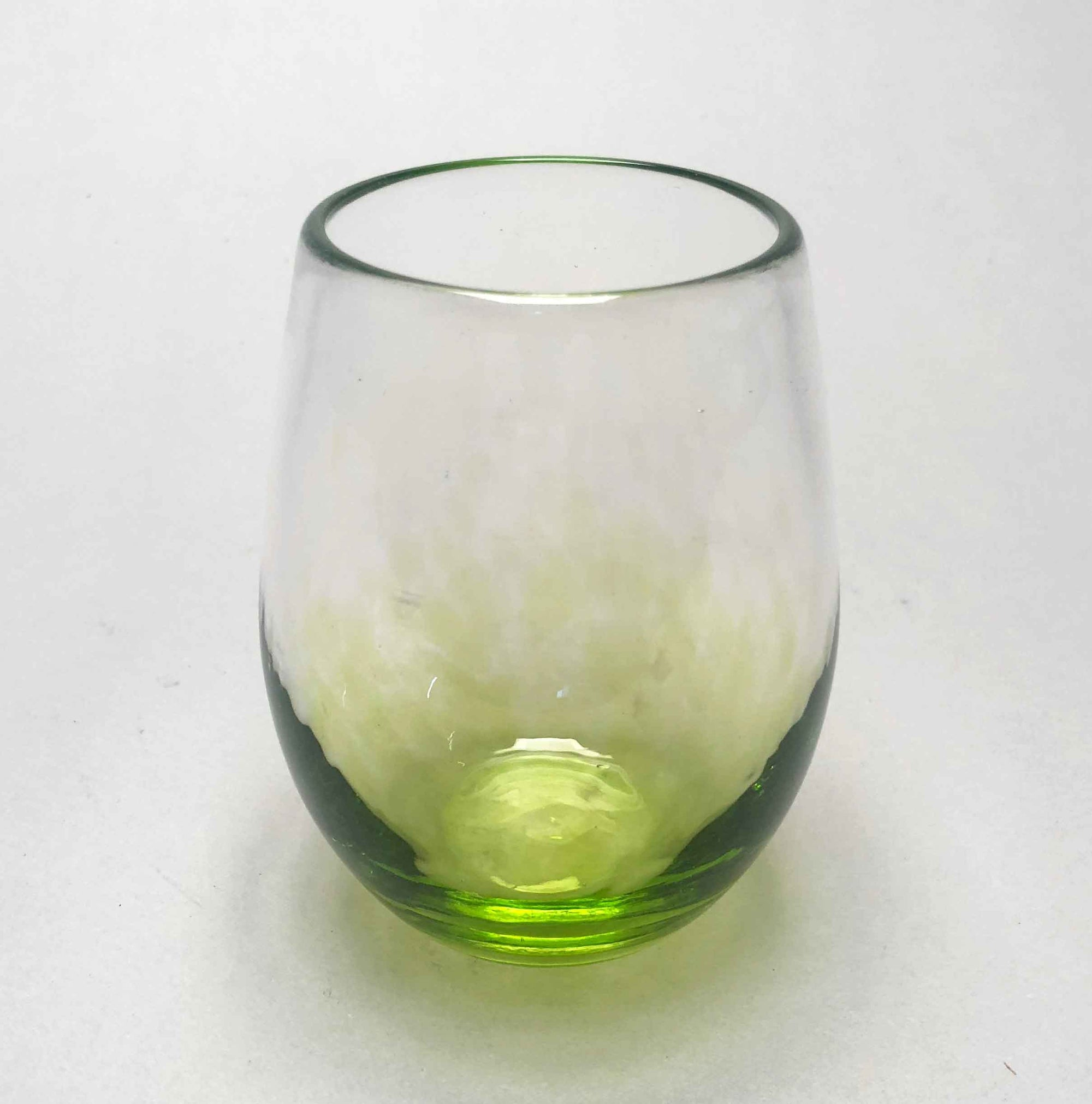 Wine Glass Stemless Transparent Citron Green