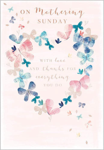 Crafty Gardens & Drones stones Greeting Card Butterfly Heart 12165A