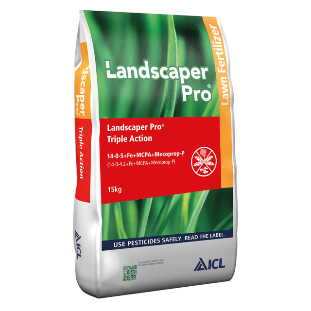 Crafty Gardens Landscaper Pro Triple Action Feed, Weed & Moss Killer - 15kg
