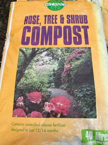 Crafty Gardens McCann's Rose, Tree & Shrub Compost 40L