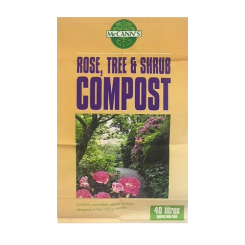 Crafty Gardens McCann's Rose, Tree & Shrub Compost 40L 80273541
