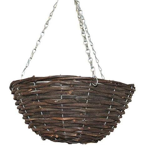 Crafty Gardens Rattan Hanging Basket - 35cm