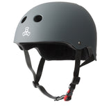 Triple 8 Certified Sweatsaver Helmet - Carbon Rubber