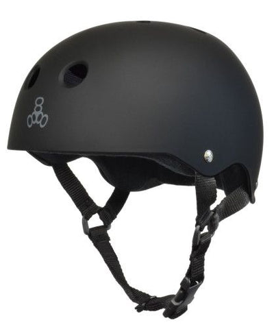 Triple 8 Sweatsaver Helmet All Black Rubber