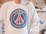 Trabajando Paris Travaille White Crew Neck