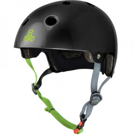 Triple 8 Dual Certified Helmet - Black/Zest Gloss