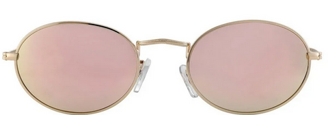 Campbell Polarized Gold/Pink Mirror Sunglasses