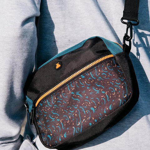 Bumbag Finkle Compact XL Shoulder Bag - Black/Teal