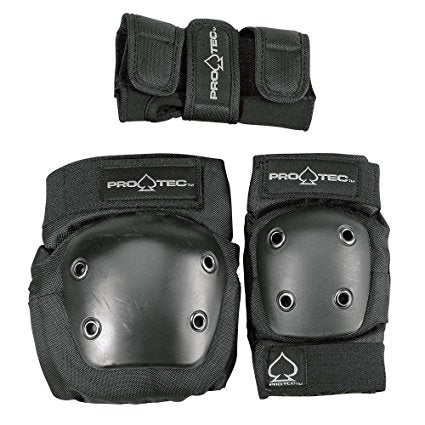 Protec Junior 3-Pack Safety Pads - Black