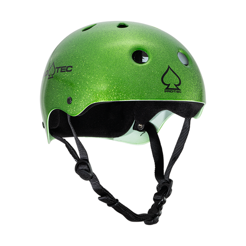 Pro-Tech Classic Skate Helmet - Candy Green Flake