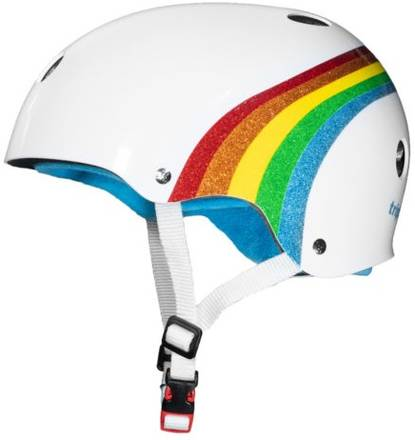Triple 8 Certified Sweatsaver Helmet - Rainbow Sparkle/White