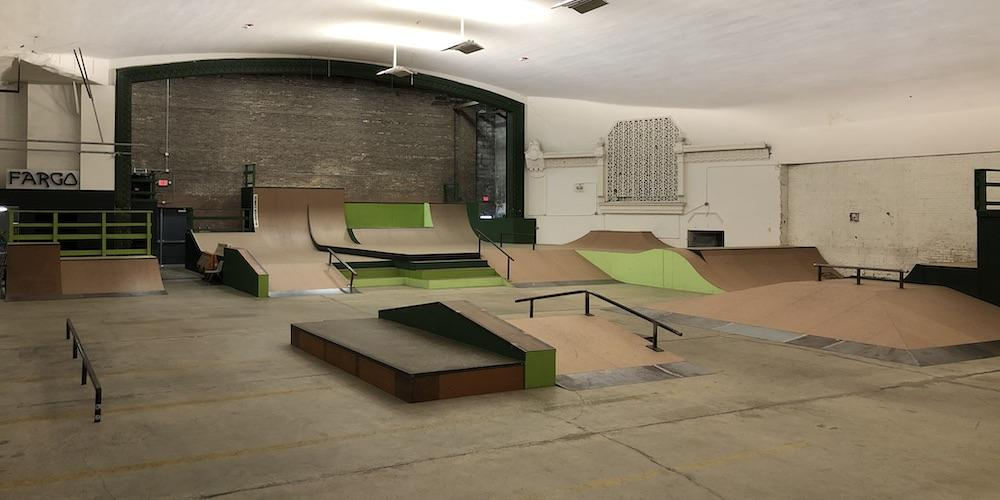 Fargo skate youth skateboarding league indoor skatepark illinois