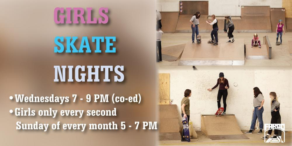 Fargo Skateboarding Girls Skate Nights Indoor Skatepark Illinois