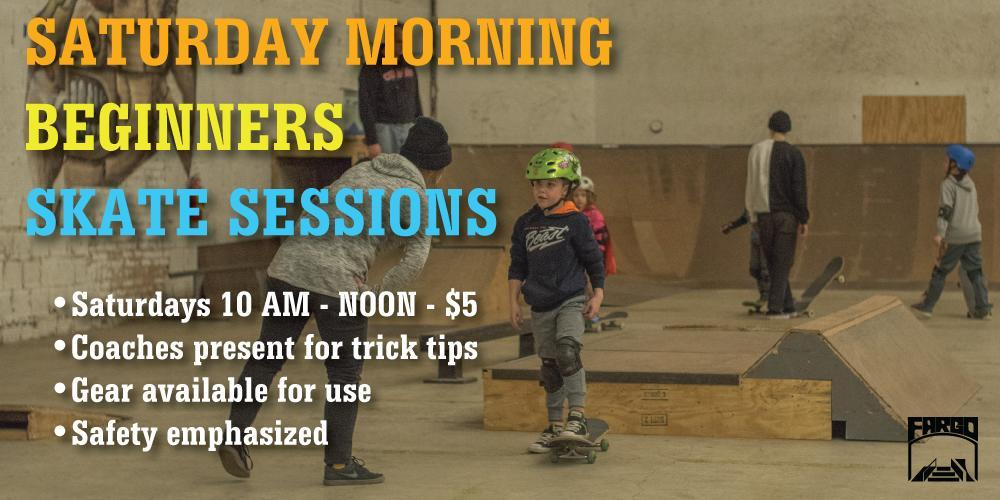 Fargo Saturday Beginner Sessions Indoor skatepark illinois