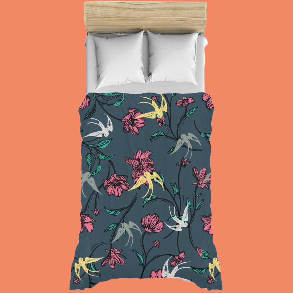 Midnight Birds Duvet Cover
