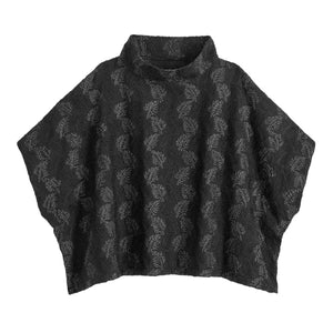 Black Funnel Neck Cecil Poncho by World Market