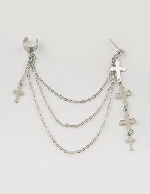 FULL TILT Cross & Chain Earring Cuff