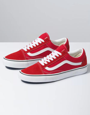 VANS Old Skool Racing Red & True White Shoes