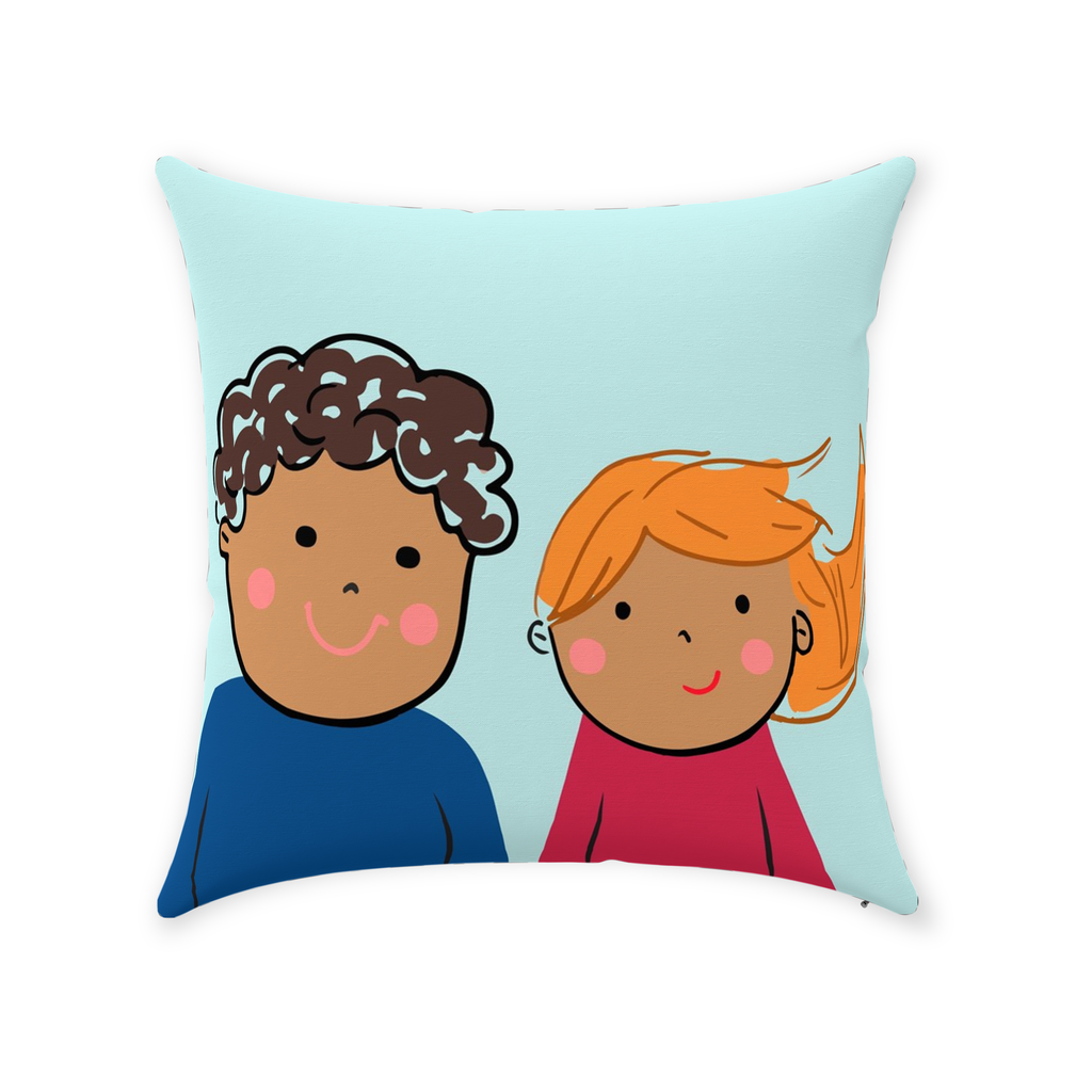 Sibling Rivalry I Pillow