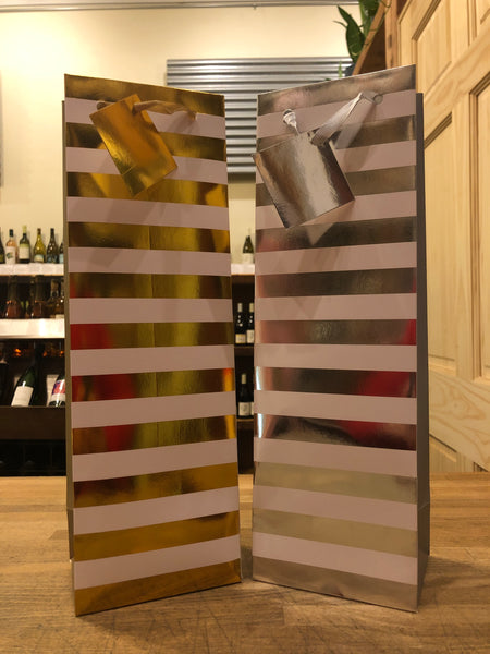 Holiday Striped Gift Bag