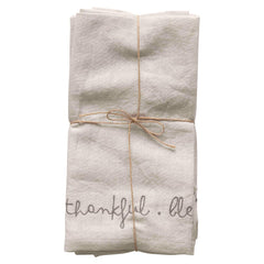 Embroidered Cotton Linen Napkins Set of 4 | online exclusive