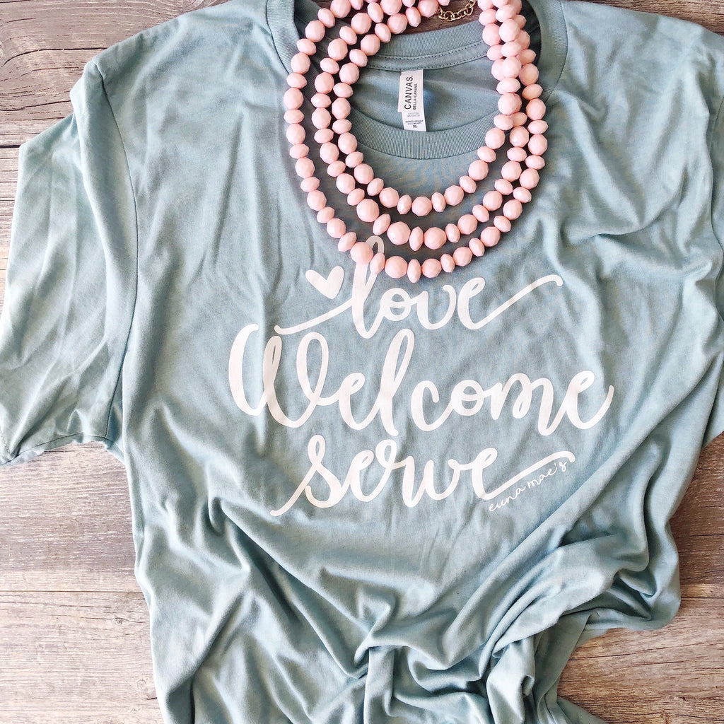 exclusive Love Welcome Serve tee | free shipping