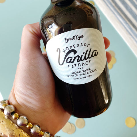 2 - 8oz Bottles of Handmade Premium Vanilla Extract