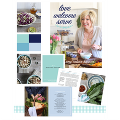 """Love Welcome Serve"" Cookbook by Amy Hannon"