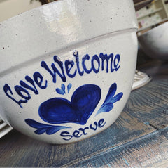 Exclusive Love Welcome Serve Stoneware Bowl