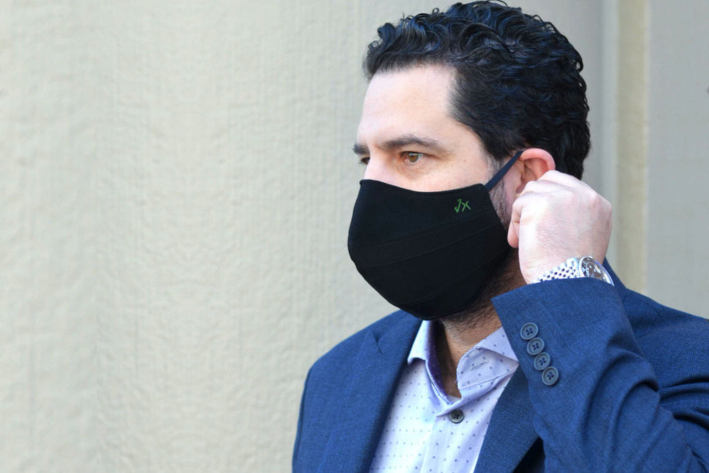 man wearing a face mask